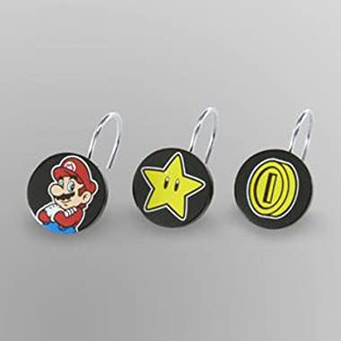 Super Mario Shower Curtain Ring Hooks