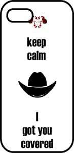 iphone 6 case - Keep calm I got you covered - Carl - Black protective plastic case for your iphone - dead, walking