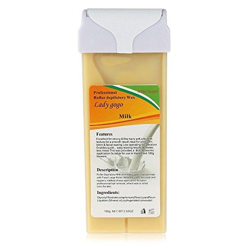 PrettyGal Roll-on cire dépilatoire cire naturelle cire d'abeille Hair Removal Cream(Milk) dépilatoire
