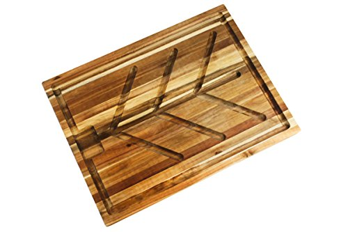 Villa Acacia Wood Carving Board, Extra Large Juice Groove and Well - 24 x 18 x 1.5 Inch by Thirteen Chefs (Image #7)