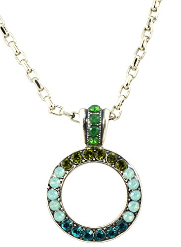 Mariana-Silver-Plated-Angelica-Swarovski-Crystal-Circle-Pendant-Necklace