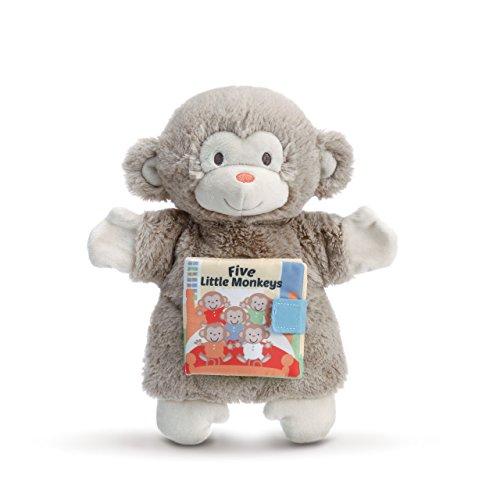 DEMDACO Five Little Monkeys Puppet and Storybook Children's Plush Stuffed Animal Toy
