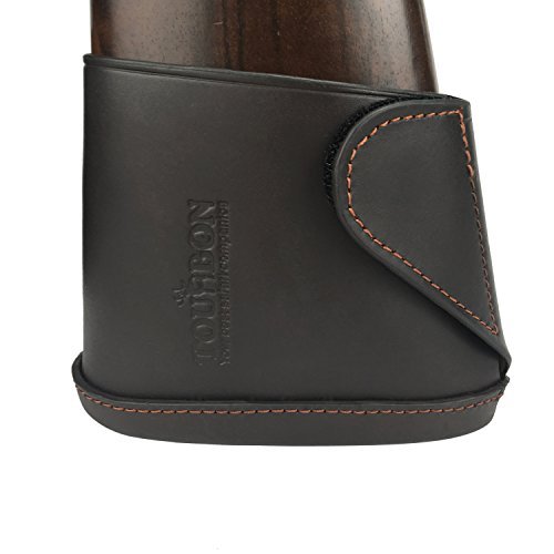 TOURBON Genuine Leather Shotgun Gun Butt Extension Recoil Pad - Small Size