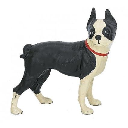Amazon Cast Iron Standing Boston Terrier Dog Door Stop Doorstop