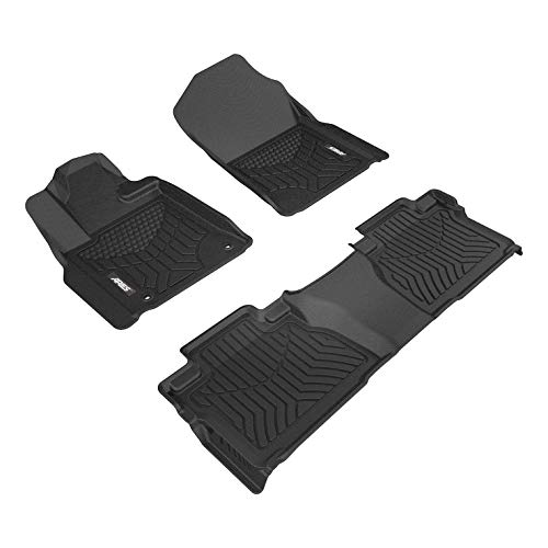 ARIES 2807409 Black StyleGuard XD Liner Custom Fit Floor Mat Complete Kit (for 1st and 2nd Row)