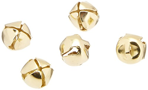 "1/2"" Holiday Jingle Bells, Gold (144 Bells)"