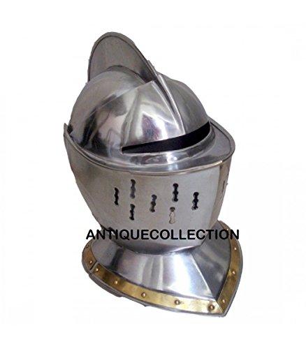 Medieval European Knight Armor Closed Helmet - Armour Costume
