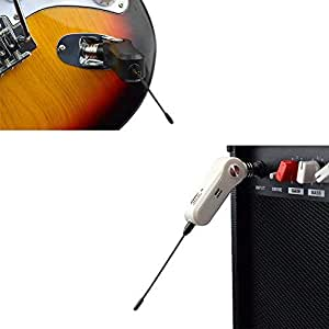 wireless audio transmitter receiver system for electric guitar bass electric piano. Black Bedroom Furniture Sets. Home Design Ideas