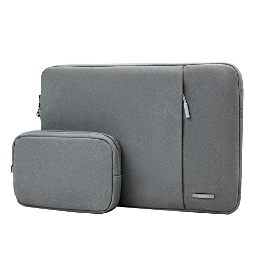 KALIDI Laptop Sleeve 13.3 inch for MacBook Air/13 inch MacBook Pro Retina 2018-2016, Faux Suede Leather MacBook 13-13.5 inches, (13.3 INCHES Grey)