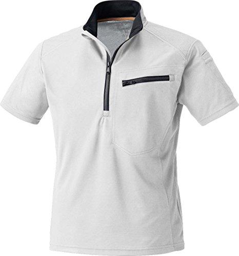 MK:260 肩を守る半袖ジップアップシャツ【脇消臭 吸汗速乾 すぐ乾く 肩パット 反射機能】