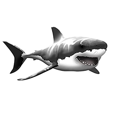 VWAQ Giant Great White Shark Wall Decal Peel and Stick Wall Art