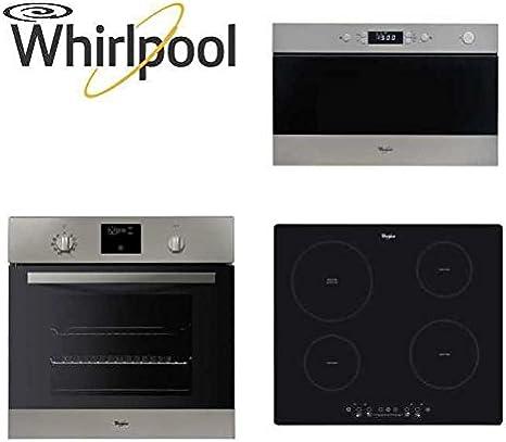Whirlpool – Paquete encastrable de horno, microondas y placa ...