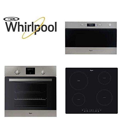 Whirlpool - Paquete encastrable de horno, microondas y placa ...