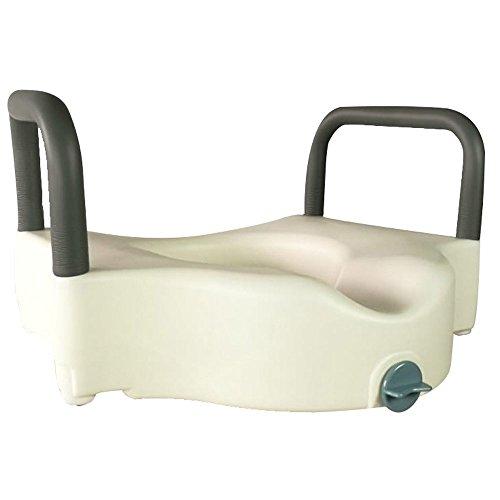 41dt3qBKjEL. SS500 SEGURO Y FÁCIL DE UTILIZAR: el mecanismo de sujeción frontal garantiza un bloqueo seguro y fácil en el inodoro, además evita el desplazamiento del elevador de WC durante la transferencia CÓMODO: cuenta con unos reposabrazos acolchados que también aportan mayor seguridad al usuario FÁCIL HIGIENE: cuenta con una gran facilidad para su limpieza gracias al material con el que se ha fabricado