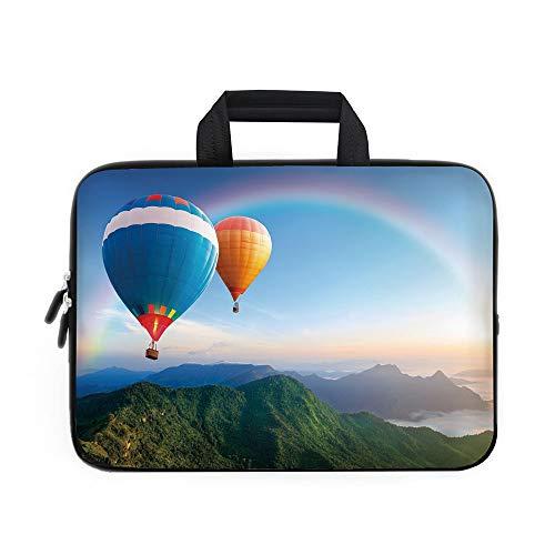 iPrint Funda de Neopreno para portátil con diseño de Unicornio Blanco con Colores de arcoíris, para Apple MacBook Air,...