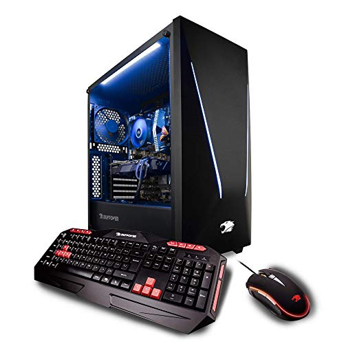iBUYPOWER Elite Gaming PC Computer Desktop Trace 062A (AMD Ryzen 7 2700X 3.7GHz, NVIDIA Geforce RTX 2060 6GB, 16GB DDR4-2666 RAM, 2TB HDD, 240GB SSD, WiFi Included, Win 10 Home, VR Ready), Black