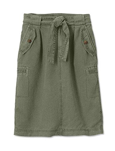 Green Cargo Skirt (Orvis Tencel-Linen Cargo Skirt/Tencel-Linen Cargo Skirt, Sage, 10)