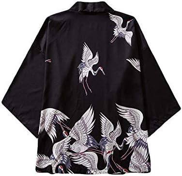 SYXYSM Estilo De Harajuku Hombres Japoneses De La Blusa De La Blusa Kimono Cardigan Imprimir Nacional Tops Cardigan Verano Imprimir Tapas Flojas Mujer (Color : P, Size : L): Amazon.es: Hogar