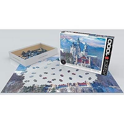 Neuschwanstein Castle in Winter 1000-Piece Puzzle: Toys & Games