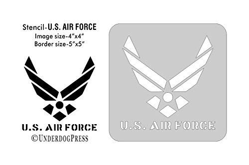 U.S Large Stencil Air Force