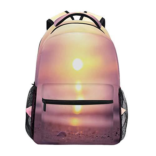TropicalLife Beach Sunris Ocean Theme Backpacks School Bookbag Shoulder Backpack Hiking Travel Daypack Casual Bags