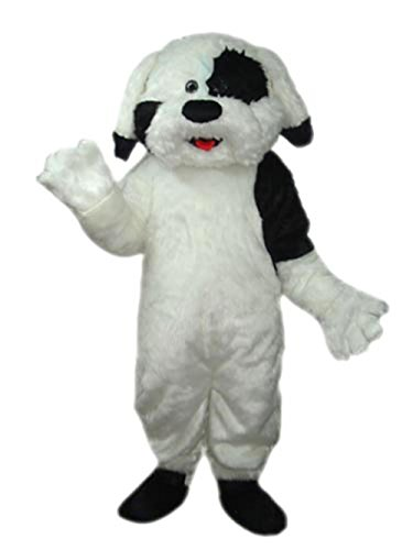 MascotShows Cute Dog Short Hair Velvet Mascot Costume Fancy Dress with Built-in Cooling Fan for Party, Sale Activities, Celebration and Ceremony, Adult Size by MASCOTSHOWS MASCOTS MAKE LIFE BEAUTIFUL