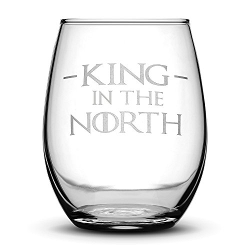 Set of 4, Premium Game of Thrones Wine Glasses, I Drink and I Know Things, Mother of Dragons, King in the North, Hold the Door, Stemless Gifts, Made in USA, by Integrity Bottles by Integrity Bottles (Image #3)