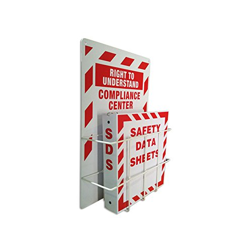 SAFERUN MSDS Right to Understand Center, Binder Steel Racks 3mm Thick Polystyrene Board with Coated Wire Basket. by SAFERUN