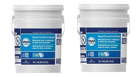 Dawn Professional Pot and Pan Detergent, Regular Scent, 5 Gallons (2-(5 Gallons)) by Dawn