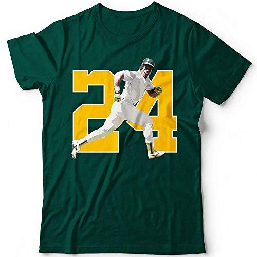 Henderson No. 24 Steal Man Oakland Baseball Fielder Hitter Baserunner Champions Jersey Customized Handmade T-Shirt Hoodie/Long Sleeve/Tank Top/Sweatshirt Club Store Baseball Jersey