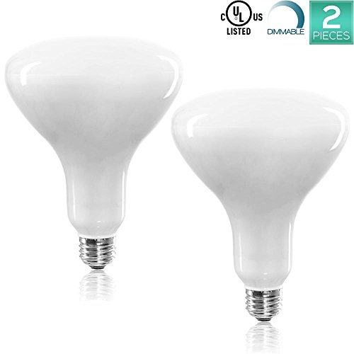 Luxrite LR31825 (2-Pack) 14-Watt LED BR40 Flood Light Bulb, 85W Equivalent, Dimmable, Daylight White 6500K, 1100 Lumens, E26 Base, UL Listed Volt Br40 Flood