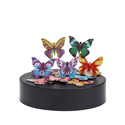 THY COLLECTIBLES Magnetic Sculpture Desk Toy For Intelligence Development Stress Relief Strong Magnet Base Solid Metal Pieces (Butterfly)