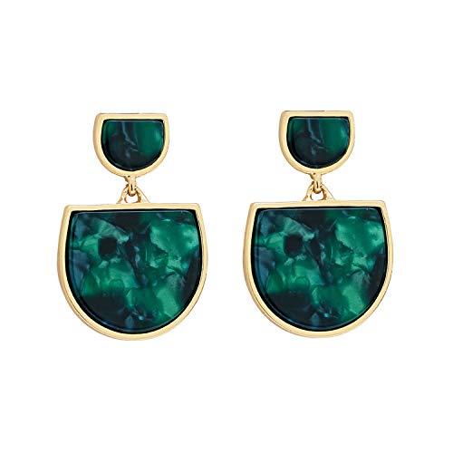 - Green Earrings for Women Drop Dangle Green Earrings Classic Vintage Alloy Retro Unique Elegant