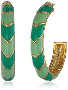 """T Tahari """"Essentials"""" Chevron Hoop Earrings"""