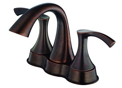 (Danze D301022BR Antioch Two Handle Centerset Lavatory Faucet, Tumbled Bronze)
