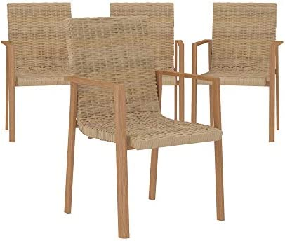 COSCO Outdoor Stacking Dining Patio Chair