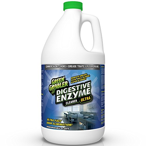 Green Gobbler DIGESTIVE ENZYMES for Grease Trap & Sewer - Controls Foul Odors & Breaks down Grease, Paper, Fat & Oil in Sewer Lines, Septic Tanks & Grease Traps (1 (Rv Wastewater Tanks)