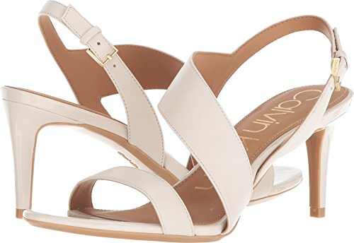 Calvin Klein Women's Lancy Heeled Sandal, Soft White, 7.5 Medium US
