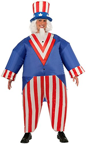 Forum Novelties Men's Inflatable Uncle Sam Costume, Multi, One Size ()