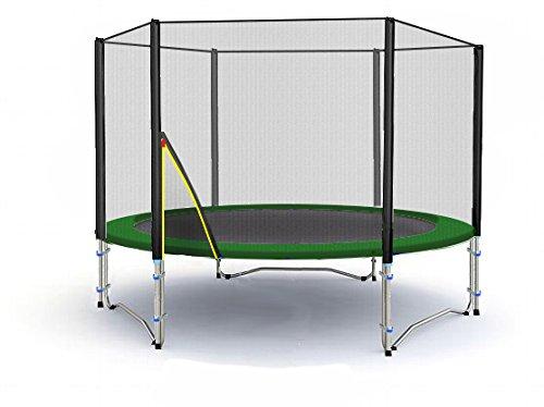 BL-T245-KS08 (GD) Garten- Trampolin 245cm, Netz UV-Resistant, Leiter, Anker & Plane
