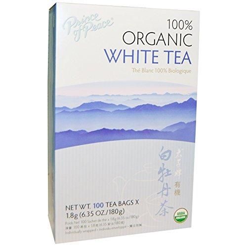 Prince of Peace, 100% Organic Premium Peony White Tea, 100 Bags, 2 g Each - 2pcs ()