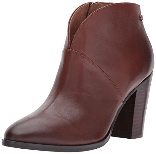 206 Collective Women's Everett Leather High Heel Ankle Bootie, Cognac, 11.5 B US