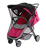 LJHWZ Baby Stroller Sunscreen Universal Mosquito Net UPF50+ Awnings UV Protection Cover Mosquito Net for Pram Suitable for Baby Carriage Wheelchair Baby Car Windshield6680cm
