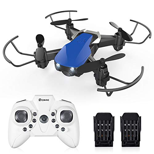 Mini Drones for Kids and Adults, EACHINE E61H Macro Drone RC Nano Quadcopter with Auto Hover for Beginners, Extra Batteries, 15 mins Long Flight Time, One Key Take Off/Landing,Toys for Boys and Girl