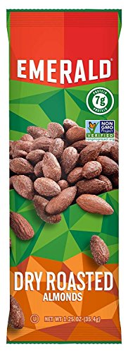Emerald Dry Roasted Almonds, 1. 25 oz (35.4g)Tube Package, 12/Box