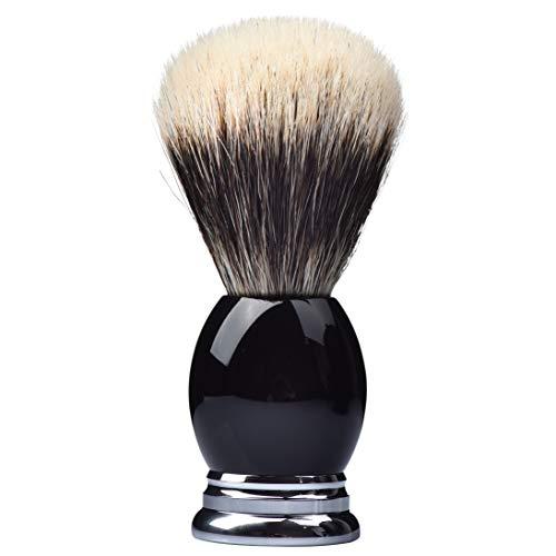 Je&Co 100% Fine Silvertip Badger Bristle Shaving Brush, With Heavy Weight Resin Base