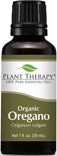 Plant Therapy USDA Certified Organic Oregano Essential Oil. 100% Pure, Undiluted, Therapeutic Grade. 30 mL (1 Ounce).