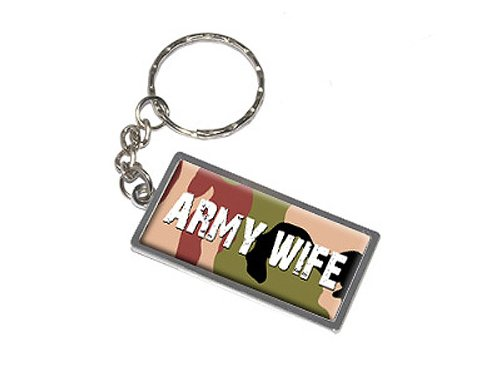 Army Wife Graphics - Army Wife - New Keychain Ring
