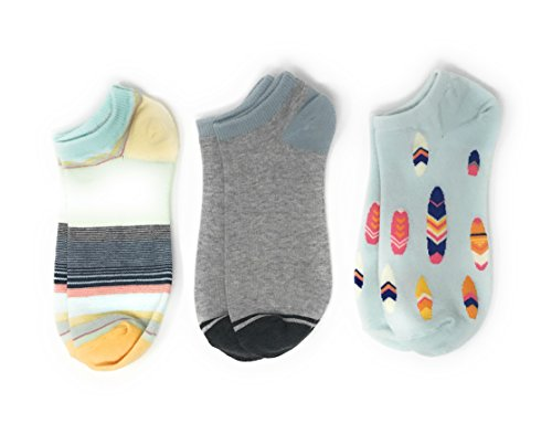 American Eagle Women's Shortie Socks 3-Pack (0/S, One Size) (Stripes 700)