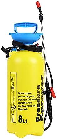 Romacci Pulverizador manual 8L Pulverizador de rega Atomizador de lata com válvula de alívio de pressão Tubo d